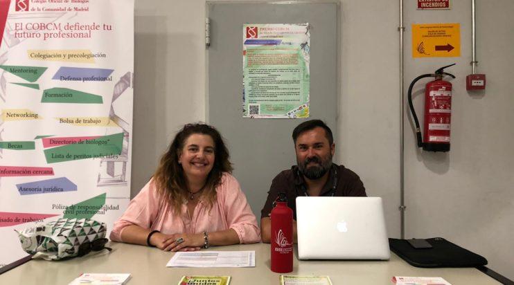 Stand del COBCM en el XVIII Congreso Ibérico de Entomología