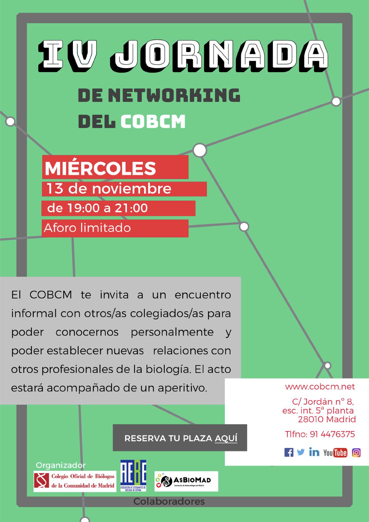 IV Jornadas Networking COBCM