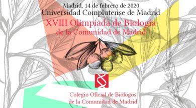 Inscripción en la XVIII Olimpiada de Biología de la Comunidad de Madrid