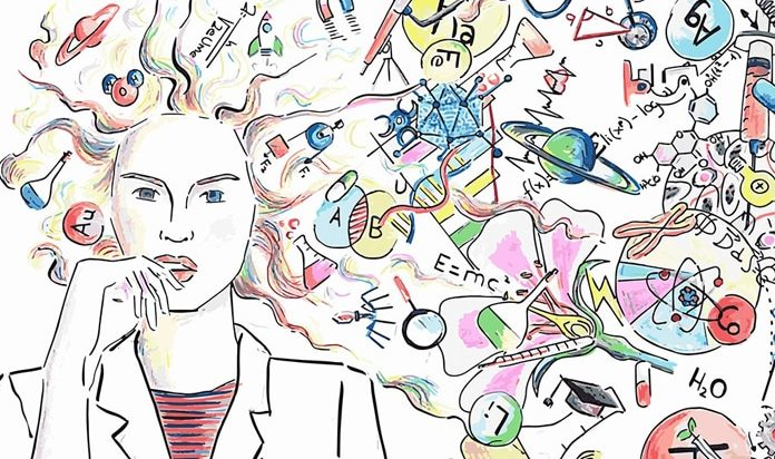 día mujer niña ciencia